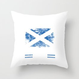 No Fear Scottish Is Here Scotland Flag Throw Pillow