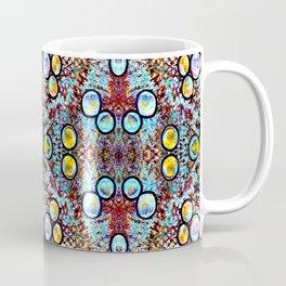 Colorful Gold Circles Pattern Coffee Mug