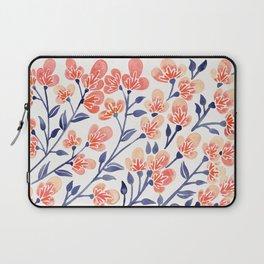 Cherry Blossoms – Peach & Navy Palette Laptop Sleeve