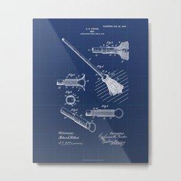 Mop Vintage Patent Hand Drawing Metal Print