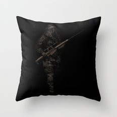Soldier from the jungle Throw Pillow