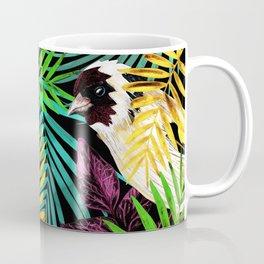 Tropical birds and green leaves Coffee Mug