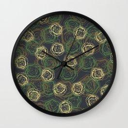 Rose Camo WOODLAND Wall Clock