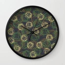 Rose Camo WOODLAND Wall Clock