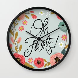 Pretty (not so) Sweary: Oh Farts Wall Clock