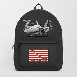 F/A-18 Hornet Naval Military Fighter Jet Aircraft Backpack