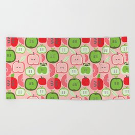 Retro Apples Beach Towel