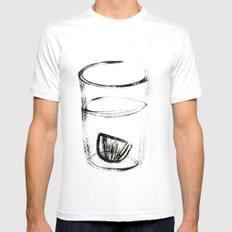 GINLEMON Mens Fitted Tee White SMALL