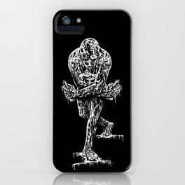 Drippy Passion - black & white art print iPhone Case