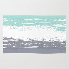 Pastel Color Blocks - Teal & Petroleum Rug