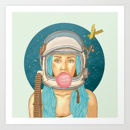 Bubblerella Art Print