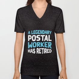 Postal Worker Post Office Mail Mailman Gift Unisex V-Neck