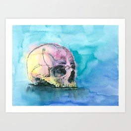 Colorful Skull 2 Art Print