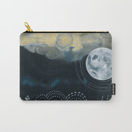 Moon Series #4 Watercolor + Ink Painting Carry-All Pouch