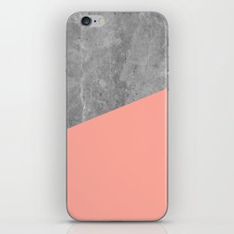 Simply Concrete Dogwood Pink iPhone Skin