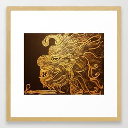 Golden Dragon Framed Art Print