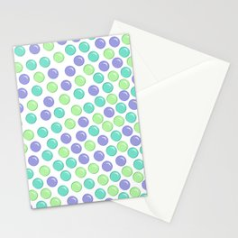 Bubble Drops Pattern Print Stationery Cards