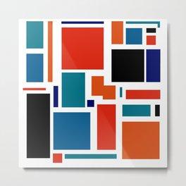 Modern Mondrian (white) Metal Print