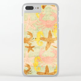 Sea World Vintage Clear iPhone Case
