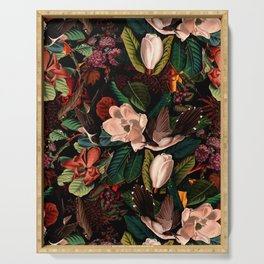 FLORAL AND BIRDS XIV Serving Tray