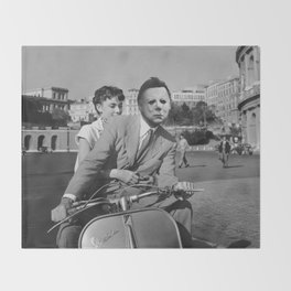 Michael Myers in Roman Holiday Throw Blanket