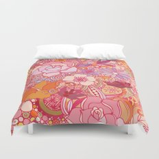 Detailed summer floral pattern Duvet Cover