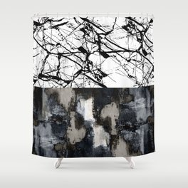 Two Faced - Double abstract patterns, marble and textured Shower Curtain