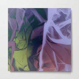 Deep Purple and Green Abstract Metal Print