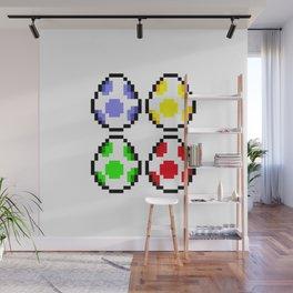 Minimalist Yoshi Eggs Wall Mural