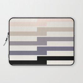 Grey Geometric Minimalist Watercolor Geometric MInimalist Mid Century Modern Lightning Bolt Pattern Laptop Sleeve