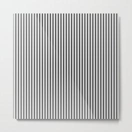 Black and White Princess Elizabeth Regal Stripe Metal Print