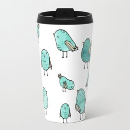 Flock Of Birds - Green Travel Mug
