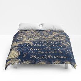 Pride and Prejudice, Peacock; Vintage Book Cover Comforters