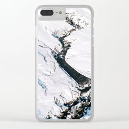 River in winter in Iceland - Landscape Photography Clear iPhone Case