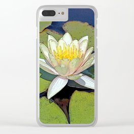 Lily Pad Clear iPhone Case
