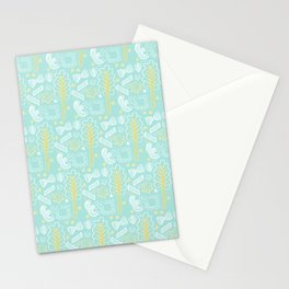 Blue Pasta and Chard Stationery Cards