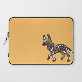 8-bit African Wild Dog Laptop Sleeve