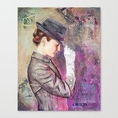 Grey Fedora Canvas Print