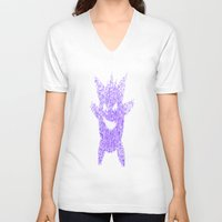 gengar V-neck T-shirts featuring Gengar by Dead City