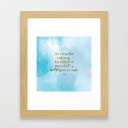 Unfold your own myth. - Rumi Framed Art Print