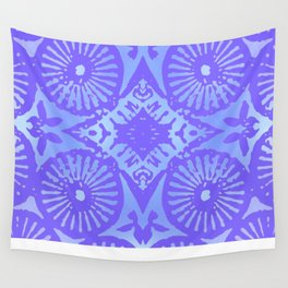bowie: blue blue electric blue Wall Tapestry