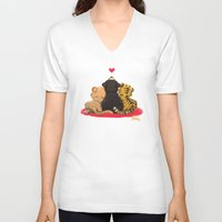 best friends V-neck T-shirts featuring Best Friends by Patara