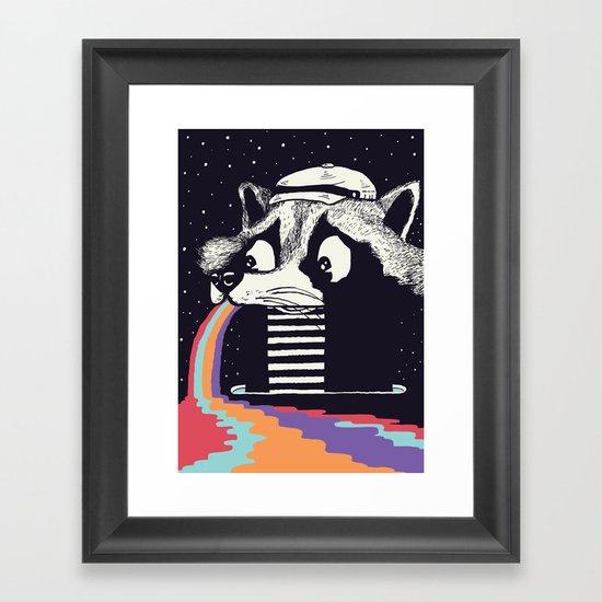 Sick Raccoon  Framed Art Print