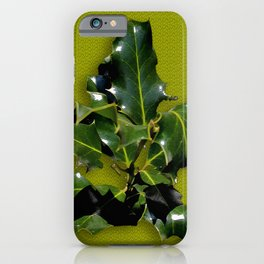 Holly Branch Isolated iPhone Case