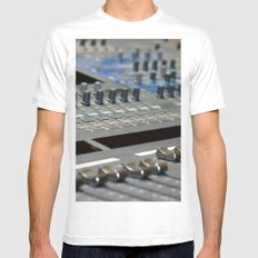 Mixing Console Mens Fitted Tee MEDIUM White