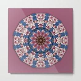 Spring blossoms, Nature Flower Mandala, Floral mandala-style Metal Print