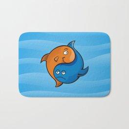 Yin Yang Fish Cartoon Bath Mat
