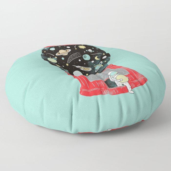 My childhood universe Floor Pillow
