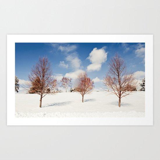 Red Trees Art Print
