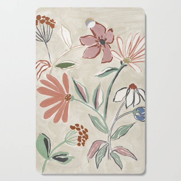 Monday Floral Cutting Board